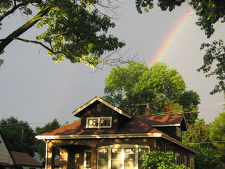 July 22, 2006 - House Backdropped by Rainbow