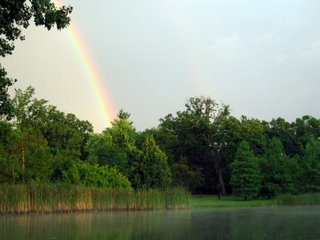 July 22, 2006 - Rainbow at Easton Pond, Geneva Rd., West Chicago, IL
